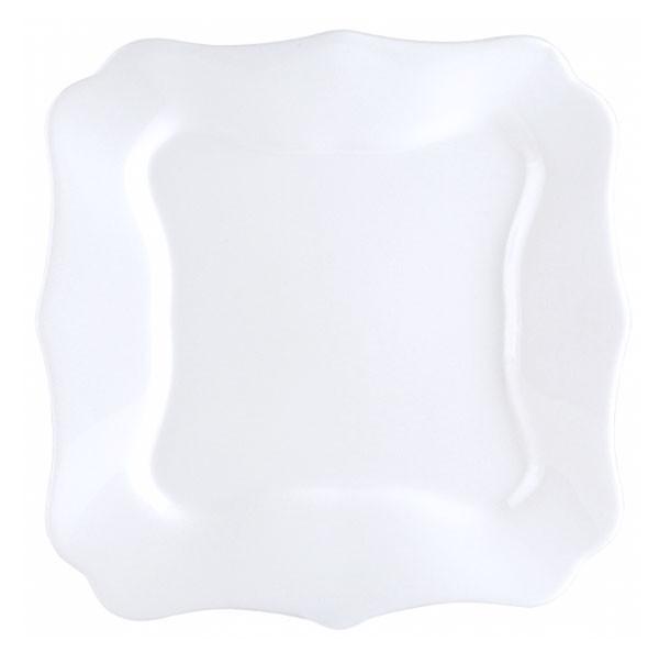 Тарелка обеденная квадратная 26 см Luminarc Authentic White J1300