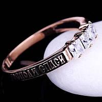 """Женское золотое кольцо """"спаси и сохрани"""" с фианитами"""