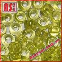 №01153  - 50 грамм (Бисер Preciosa 10/0 круглый оливковый прозрачный)