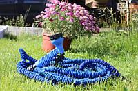 Поливочный Икс-Хоз X-hose шланг длинной 30 м. с в водораспылителем