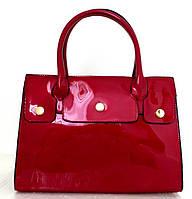 Лаковая вместительная женская сумка Эко-кожа