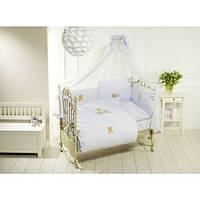 Постельный комплект в кроватку Feretti Sleepy Bear Blue - 6 предметов