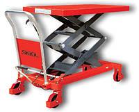 Skiper SKTS 800, подъёмные столы, гидравлические, ручные, г/п 800кг, в/п 1500мм