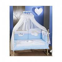 Постельный комплект в кроватку Feretti Rabbit Blue  - 6 предметов