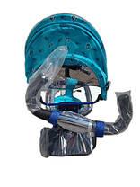 Детский трехколесный велосипед Azimut Trike полукупол голубой, надувные колеса, фото 3