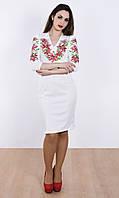 Оригинально платье-вышиванка с лилиями