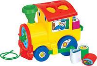 """Обучающая игрушка """"Занимательный паровоз"""" (в сеточке) Полесье"""