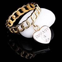Женское золотое кольцо с сердечком