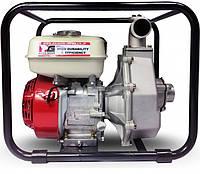 Мотопомпа высокого давления 50х50мм, 5.5 к.с., Honda GX160, 400л/мин, подача 50м, забор 8м, Daishin SCH-5050HX