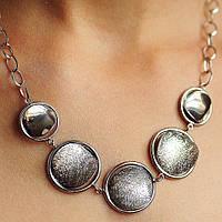 Серебряное женское колье