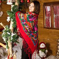 Украинский платок (125х125см, красный) - Новый