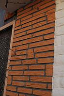 Теплые плитки полифасад для утепления стен фасада дома (римская кладка)