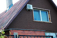 Полифасад для утепления фасада дома - колотый камень