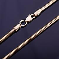 Золотая цепочка плетение Снейк