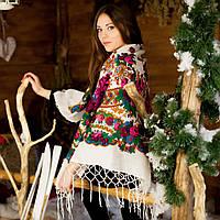 Украинский платок (125х125см, белый) - Новый
