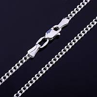 Серебряная цепочка панцирное плетение