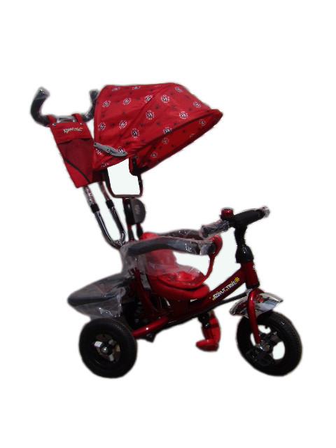 Детский трехколесный велосипед Azimut Trike полукупол красный, колеса на пене