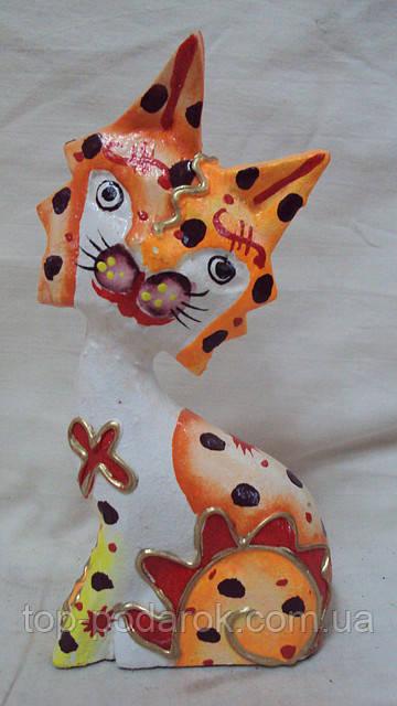 Статуєтка кошка деревянная высота 14 см