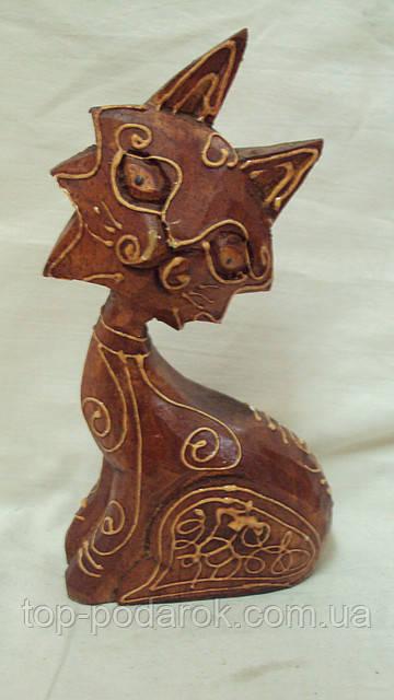 Статуєтка кошка деревянная высота 18 см