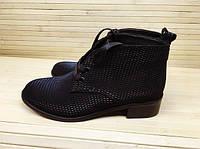 Весенние женские ботинки на низком ходу черные.Украина