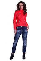 """Куртка красная стеганная короткая """"Sendi"""""""
