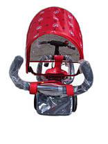Детский трехколесный велосипед Azimut Trike полукупол красный, колеса на пене, фото 3
