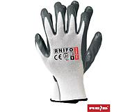 Перчатки из нейлона с нитриловым покрытием RNIFO WS, цена за 120 шт.