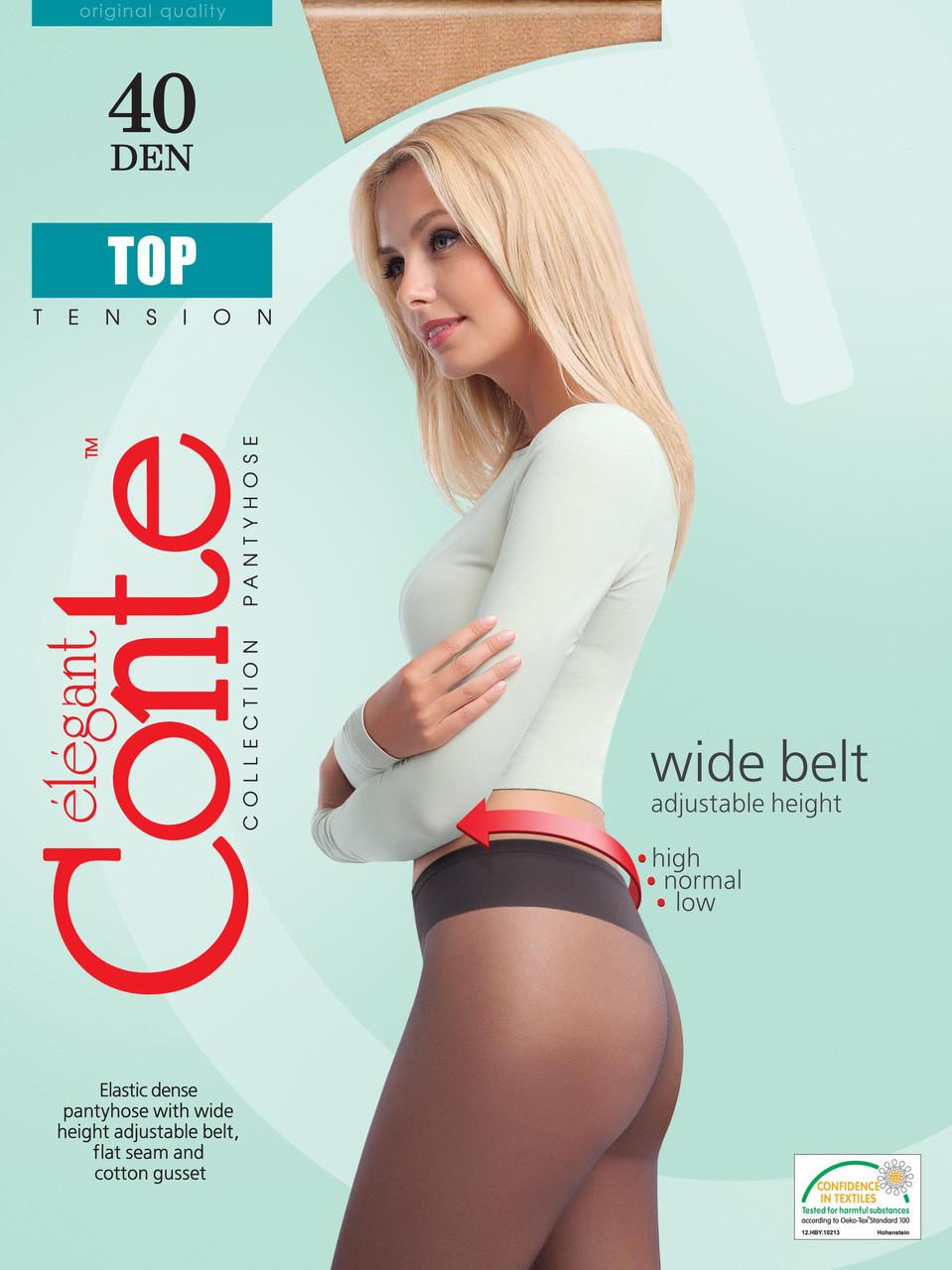 Колготки жіночі Conte ТОР 40 ден (Конте Топ 40 ден), розмір 2-4, Білорусія