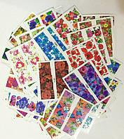 Слайдеры для ногтей.Цветы.50 штук