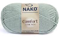 Пряжа стреч для вязания бледно зеленый цвет