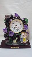 Настольные часы керамические Цветы размер 24*20*8