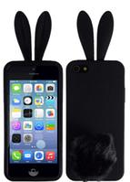 Черный силиконовый чехол зайчик iphone 4/4S