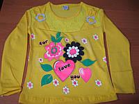 Детская футболка с длинным рукавом для девочек      2-3-4  Турция , фото 1