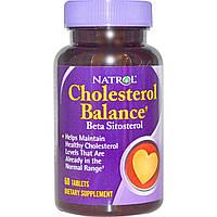 Холестерин Норма, Natrol, Бета-ситостерол, Сделано в США.