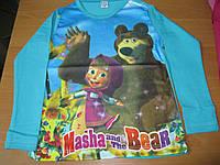 Детская футболка Маша и Медведь для девочки 3- 8 Турция