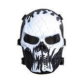 """Защитная маска для игры в пейнтбол, страйкбол """"Black and White"""""""
