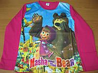 Детская футболка Маша и Медведь для девочки 5- 8 Турция, фото 1