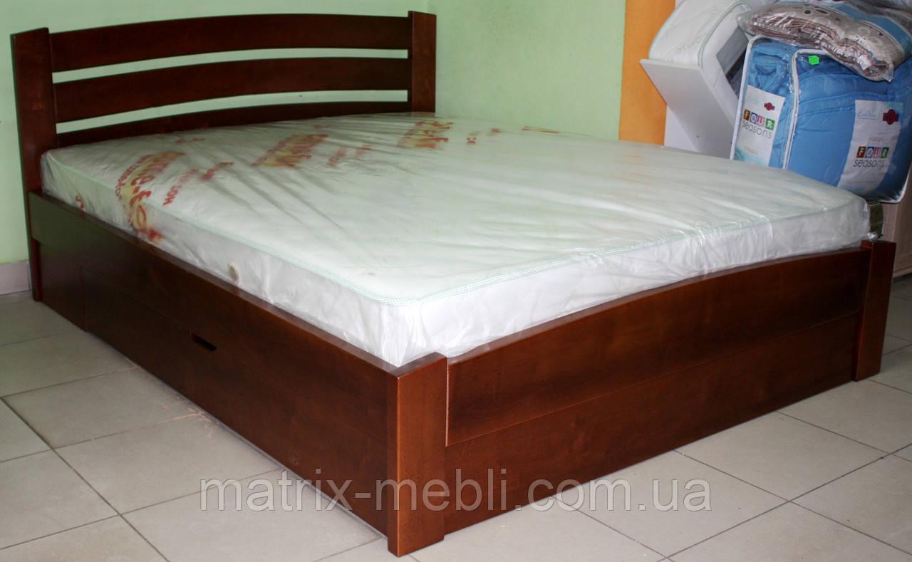 Кровать Венеция Люкс ольха 1.6 на 2м