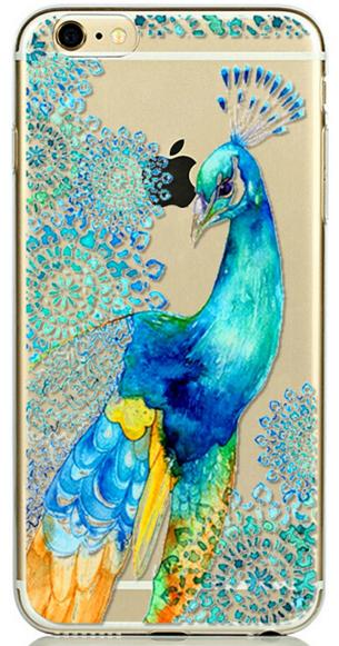 Прозрачный силиконовый чехол с палином для iphone 6/6S