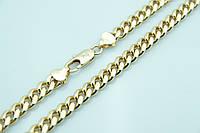 Ювелирная позолоченная цепь жгут Xuping 50см. Позолоченная бижутерия оптом недорого. 27
