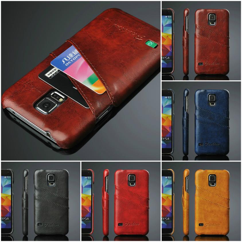 """Samsung S5 G900 чехол накладка бампер НАТУРАЛЬНАЯ КОЖА для телефона """"H ONE"""""""