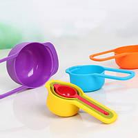 Набор мерных пластиковых ложек Measuring Cups 6 шт.