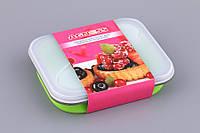 Емкость для продуктов силиконовая с крышкой 150Х130Х80 мм 710-187
