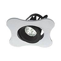 Светодиодный поворотный светильник белый,собирается в паззл  95mm*95mm. LED CREE 3W/WW CRI - 90, 366 Lm, 30 ̊