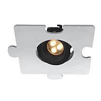 Светодиодный поворотный светильник, собирается в паззл  L125 W125 H50. LED CREE 3W/WW CRI - 90, 366Lm 30 ̊