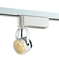 Светодиодный трековый  светильник. Блок питания  в корпусе, мощность 3W, светодиод - EDISSON, однофазный трек