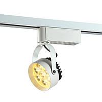 Светодиодный трековый  светильник. Блок питания  в корпусе, мощность 7W, светодиод - Edisson, однофазный трек