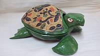 Шкатулка Черепаха деревянная размер 20*14*8