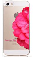 """Силиконовый чехол """"Роза"""" для Iphone 5/5S"""