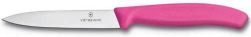 Надежный кухонный нож для нарезки фруктов и овощей Victorinox SwissClassic 67706.L115 розовый